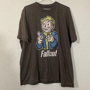 Bethesda Fall Out Boy Brown T-Shirt size XL